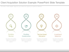 Client Acquisition Solution Example Powerpoint Slide Template