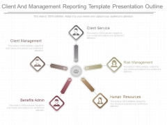 Client And Management Reporting Template Presentation Outline