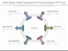 Client Based Wealth Management Planning Diagram Ppt Icon