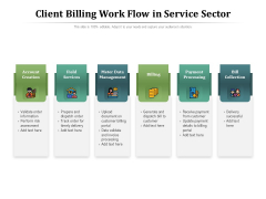 Client Billing Work Flow In Service Sector Ppt PowerPoint Presentation Layouts Slideshow PDF