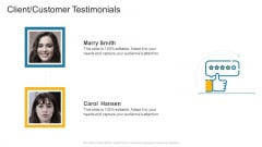 Client Customer Testimonials Company Profile Ppt Infographics Background Images PDF