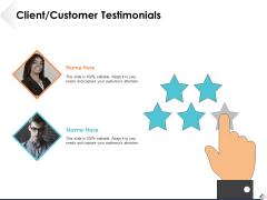 Client Customer Testimonials Ppt PowerPoint Presentation File Background Image