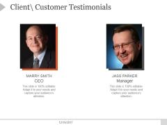 Client Customer Testimonials Template 2 Ppt PowerPoint Presentation Inspiration
