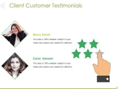 Client Customer Testimonials Template 2 Ppt PowerPoint Presentation Professional Samples