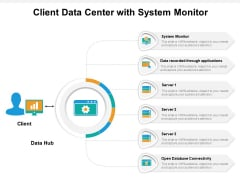 Client Data Center With System Monitor Ppt PowerPoint Presentation File Portrait PDF