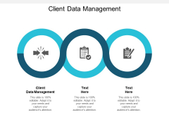 Client Data Management Ppt PowerPoint Presentation Slides Icon Cpb