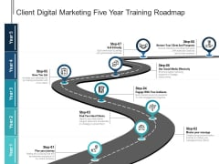Client Digital Marketing Five Year Training Roadmap Mockup