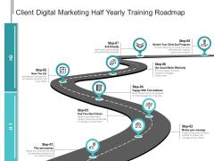Client Digital Marketing Half Yearly Training Roadmap Ideas