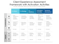Client Experience Assessment Framework With Activation Activities Ppt PowerPoint Presentation Outline Icons PDF