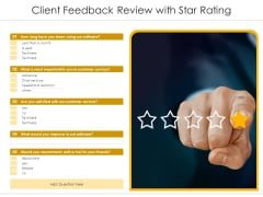 Client Feedback Review With Star Rating Ppt PowerPoint Presentation Background Image PDF