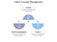Client Focused Management Ppt Powerpoint Presentation Layouts Graphic Tips Cpb