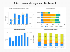 Client Issues Management Dashboard Ppt PowerPoint Presentation Styles Ideas PDF