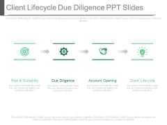 Client Lifecycle Due Diligence Ppt Slides