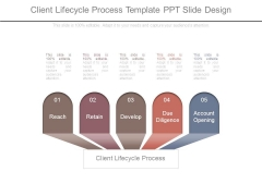 Client Lifecycle Process Template Ppt Slide Design