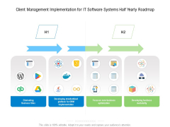 Client Management Implementation For IT Software Systems Half Yearly Roadmap Designs