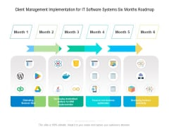 Client Management Implementation For IT Software Systems Six Months Roadmap Demonstration