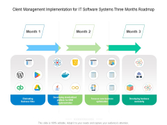 Client Management Implementation For IT Software Systems Three Months Roadmap Inspiration