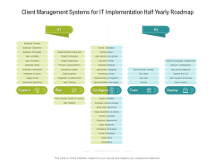 Client Management Systems For IT Implementation Half Yearly Roadmap Brochure