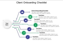 Client Onboarding Checklist Ppt PowerPoint Presentation Gallery Smartart Cpb