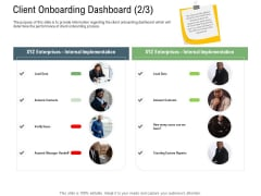 Client Onboarding Framework Client Onboarding Dashboard Data Background PDF