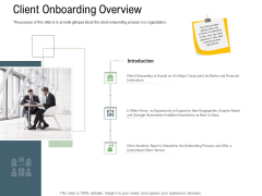 Client Onboarding Framework Client Onboarding Overview Icons PDF