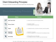 Client Onboarding Framework Client Onboarding Principles Slides PDF