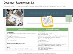 Client Onboarding Framework Document Requirement List Background PDF