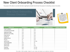 Client Onboarding Framework New Client Onboarding Process Checklist Graphics PDF