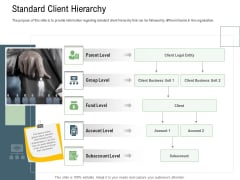 Client Onboarding Framework Standard Client Hierarchy Ppt Guide PDF