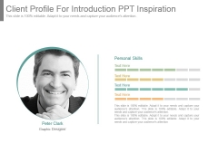 Client Profile For Introduction Ppt Inspiration