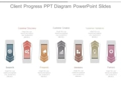 Client Progress Ppt Diagram Powerpoint Slides
