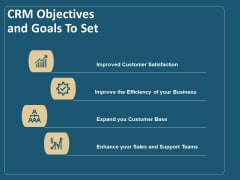 Client Relationship Administration Proposal Template CRM Objectives And Goals To Set Information PDF