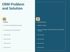 Client Relationship Administration Proposal Template CRM Problem And Solution Inspiration PDF