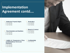 Client Relationship Administration Proposal Template Implementation Agreement Contd Formats PDF