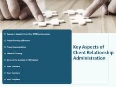 Client Relationship Administration Proposal Template Key Aspects Of Client Relationship Administration Themes PDF