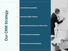 Client Relationship Administration Proposal Template Our CRM Strategy Inspiration PDF