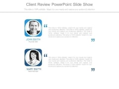 Client Review Powerpoint Slide Show