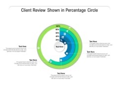 Client Review Shown In Percentage Circle Ppt PowerPoint Presentation File Background Designs PDF