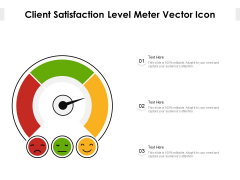 Client Satisfaction Level Meter Vector Icon Ppt PowerPoint Presentation Gallery Structure PDF