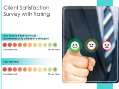 Client Satisfaction Survey With Rating Ppt PowerPoint Presentation Pictures Format Ideas PDF