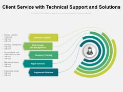 Client Service With Technical Support And Solutions Ppt PowerPoint Presentation Ideas Display PDF