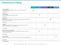 Client Specific Progress Assessment Performance Rating Ppt Outline Inspiration PDF