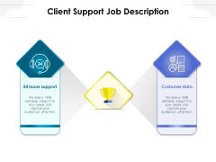 Client Support Job Description Ppt PowerPoint Presentation Portfolio Diagrams PDF