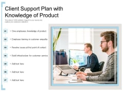 Client Support Plan With Knowledge Of Product Ppt PowerPoint Presentation Layouts Guidelines PDF