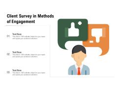 Client Survey In Methods Of Engagement Ppt PowerPoint Presentation Model Deck PDF