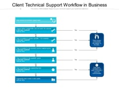Client Technical Support Workflow In Business Ppt PowerPoint Presentation Slides Professional PDF