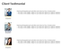 Client Testimonial Communication Ppt Powerpoint Presentation Slides Topics