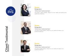 Client Testimonial Communication Ppt PowerPoint Presentation Styles Templates