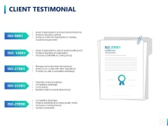 Client Testimonial Ppt PowerPoint Presentation Example File