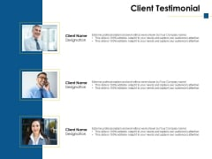 Client Testimonial Ppt PowerPoint Presentation Ideas Professional